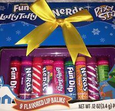 Lotta Luv Lip Balm Gift Set Lot Of 9 New Sealed Candy Nerds Taffy Pixy Stix