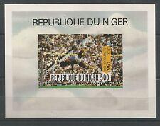 REPUBLIQUE DU NIGER 500 FRANCS FRANCHI 1980 OLIMPIA MOSCA SALTO IN ALTO BF MNH**