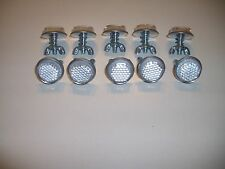 """10 Silver Goliath Tool Mini Bicycle Reflectors 7/8"""" Diameter with Wing nuts"""