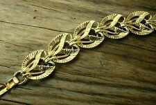 Vintage CORO Bright Shiny Gold-Colored Metal LINK BRACELET