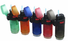 10 Pack Single Jet Flame Straight Up Torch Lighter Refillable Windproof Lighter