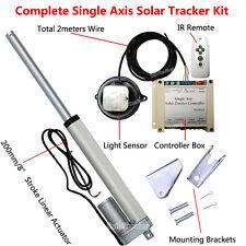 Single Axis Solar Tracker DIY Parts-8'' DC Linear Actuator &Sun Track Controller