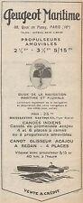 Y8465 PEUGEOT Maritime - Canoes Indiens - Pubblicità d'epoca - 1929 Old advert