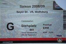 TICKET 2008/09 Bayer 04 Leverkusen - VfL Wolfsburg