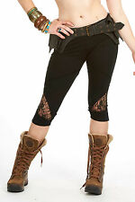 Organic Cotton Lacy Pixie Leggings Lace Festival Psy Trance Pointy Elven Party