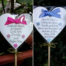 Memorial heart-Special Dad/Special Mum Grave Ornament-Personalised pink-blue
