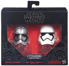Star Wars Black Series Die-Cast Metal Helmets CAPTAIN PHASMA & STORMTROOPER Set