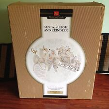 Holiday Collection Santa Sleigh and Reindeer Members Mark 2005