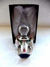 LEAD CRYSTAL FACETED GLASS PERFUME BOTTLE Picks up all the colours