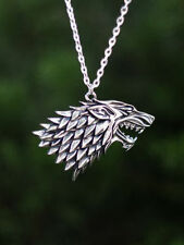 Game of Thrones Stark House Symbol Wolf Pendant Necklace Song of Ice and Fire
