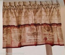 Valance Merlot Wine Kitchen Curtain Chf