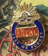 ANZAC Lest We Forget Lapel Pin *2016 NEW DESIGN* Enameled