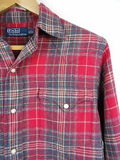 MENS 100% GENUINE RALPH LAUREN CUSTOM-FIT L/S RED CHECK SHIRT SMALL RRP £85