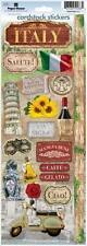 PAPER HOUSE ITALY TRAVEL VACATION CARDSTOCK SCRAPBOOK STICKERS