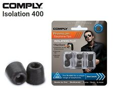 Comply Foam TX-400 Isolation + WaxGuard 3 Pairs Earphone Tips Medium Black JE