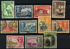 Gold Coast 1948 KGVI x 11 Used Definitives #D32812