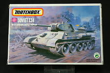 YM076 MATCHBOX 1/76 maquette tank char 40082 Soviet T.34/76c With Diorama Battle