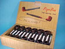 "VINTAGE 24 PIPE-PEN ""THE WRITING PIPE"" on RETAIL BOX * NEW OLD STOCK * 1960's"
