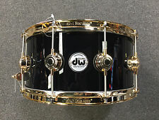 DW Drum Workshop Collectors 6.5x14 Black Finish Ply Gold HW Snare Drum $659.94