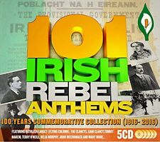 101 Irish Rebel Anthems 1916 EASTER RISING 101tracks/5CD 100 Years Commemoration
