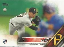 Chad Kuhl Pittsburgh Pirates 2016 Topps Update Rookie Card