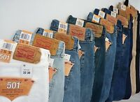 NWT Levi's 501 Straight Leg Button fly Jeans For Man Many Sizes Many Colors