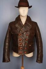 Stunning Vtg WWII 40s GERMAN French Cyclist Flight Leather Jacket Luftwaffe