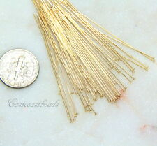 TierraCast Head Pins, Gold Filled, Head Pins, 2 Inch, 24 Guage,50 Pieces, 2909