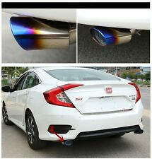 2ps Rear Exhaust Muffler End Tail Pipe Outlet For Honda Civic 10th Gen 2016 2017