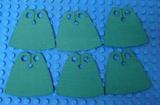 6x CUSTOM Capes For LEGO Minifig - Standard Cape Body Wear DK GREEN *Cape Only*