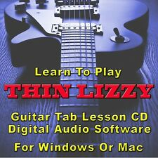THIN LIZZY Guitar Tab Lesson CD Software - 26 Songs