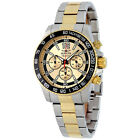Invicta Signature II Chronograph Gold Dial Two-tone Mens Watch 7408