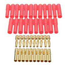 10 Sets HXT 4mm Bullet Banana Plugs with Red Housing for RC CONNECTOR AM-10092