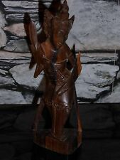 Vintage Thailand Wood carved Figure