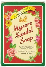 (10 Bars) Mysore Sandal Sandalwood Soap 75g Bars - Free Shipping USA !!