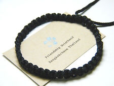 Thai Blessed Buddhist Wristband Friendship Black Bracelace