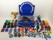 Beyblade Metal Fury Folding Travel Case Battle Arena Launchers Lot 100 + Pieces