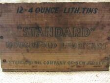 Vintage Standard Oil Company Wooden Crate Sign   Antique Old Gas RARE 8522