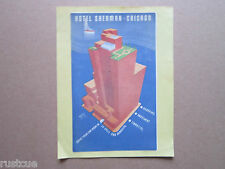 Reproduction Luggage Label Sticker - Hotel Sherman Chicago