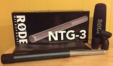 Rode NTG-3 Shotgun Microphone - Full Retail Pkg. - Warranty - Excellent/Mint