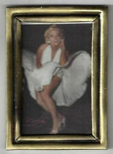 SOLID BRASS FRAMED MOVIE POSTER MARILYN MONROE MINIATURE DOLL HOUSE FURNITURE