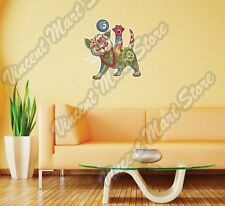 "Kitten Cat Abstract Ornament Color Wall Sticker Room Interior Decor 22""X22"""