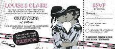 50 gay/lesbian banksy police mme & mme festival ticket mariage invitations!