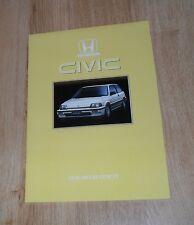 Honda Civic 3 Door Brochure 1986 - 1.3 Deluxe & 1.5 GT
