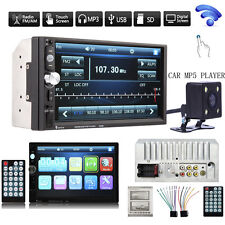 "Camera+Double 2 DIN 7""HD Car Stereo MP3 MP5 Player Bluetooth Touch Radio In Dash"
