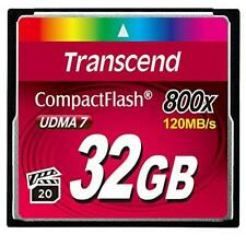 Transcend 32Gb Cf Card 800X Type I Ultra-Fast 800X Performance Supports Video N