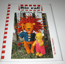 FRANKIE AND DEE Lion and Cub stuffed toy felt fabric sewing pattern