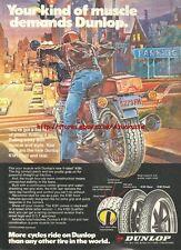 "Dunlop K181 ""Muscle"" Motorcycle 1981 Magazine Advert #1032"