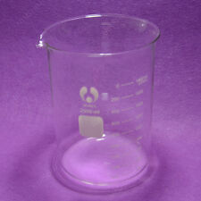 2000mL glass Beaker,2L Low Form,with Spout mouth,Borosilicate Glassware
