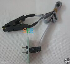 For SOIC8 SOP8 Flash Chip IC Test Clip with SPI Cable Programmer BIOS TL866A/CS